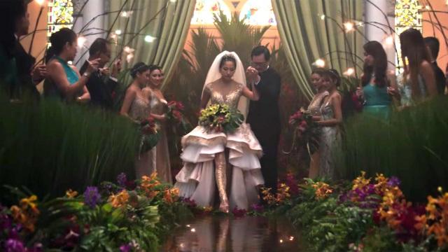 razy Rich Asians wedding scene